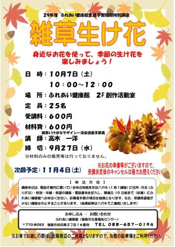 雑草生け花29.10.7_01
