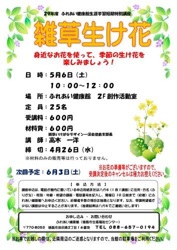 雑草生け花29.5.6_02