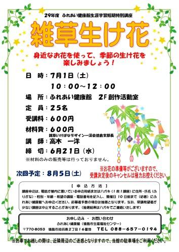 雑草生け花29.7.1_01